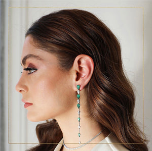 1 side Endless Diamond Emerald Earring
