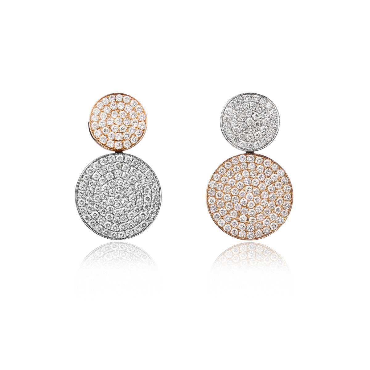 Small Round on Round Earrings