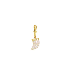 Yellow Gold White Diamonds Shark Tooth