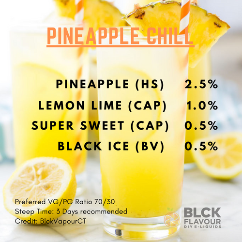 RB Pineapple Chill Recipe Card