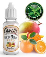 Orange mango (stevia) Concentrate** (CAP) - Blck vapour