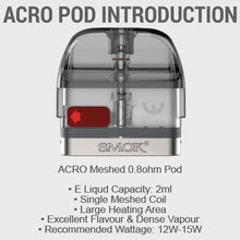 SMOK ACRO 0.8ohm Meshed Pod Cartridge
