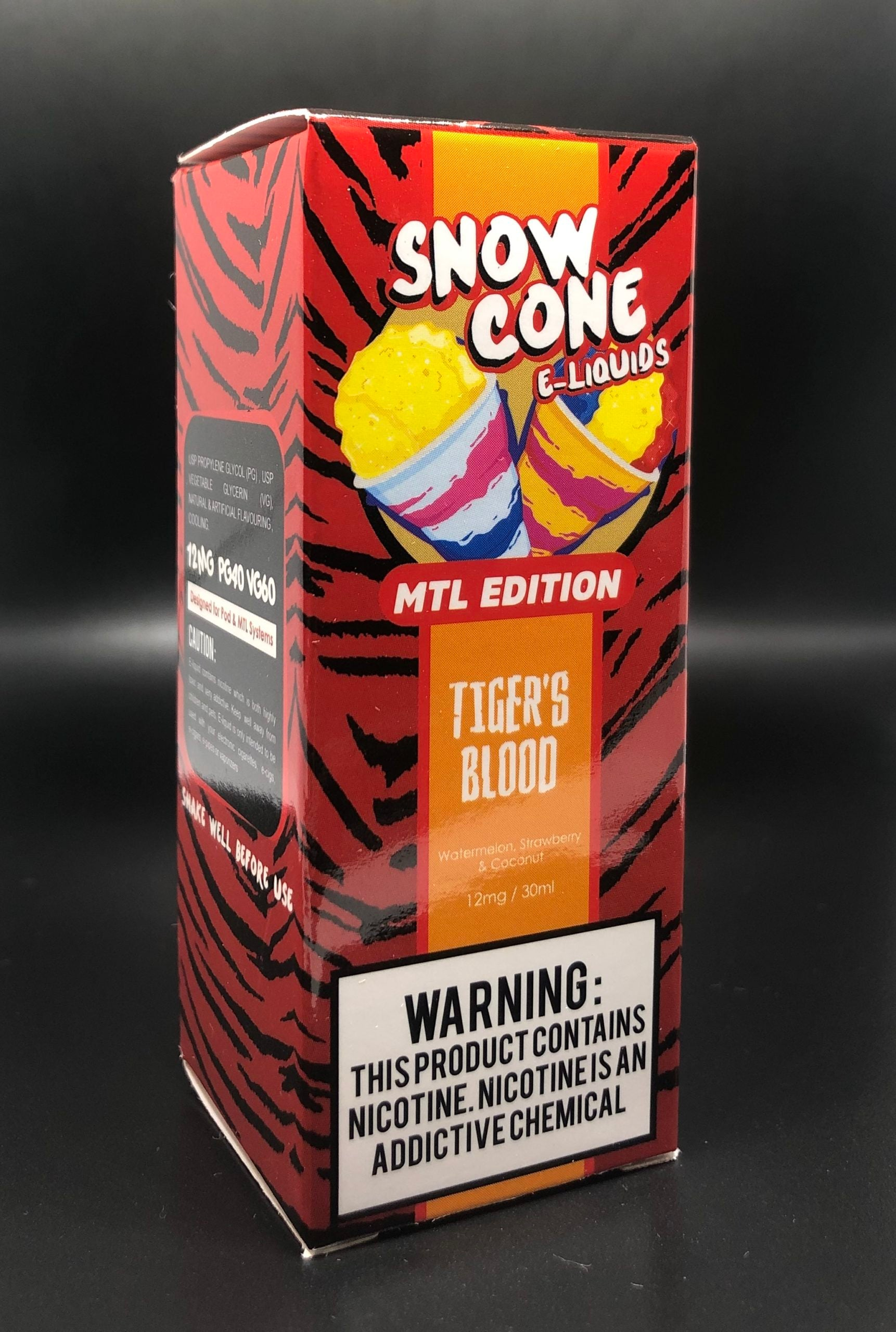 Snow Cone MTL E-Liquid - Tigers Blood