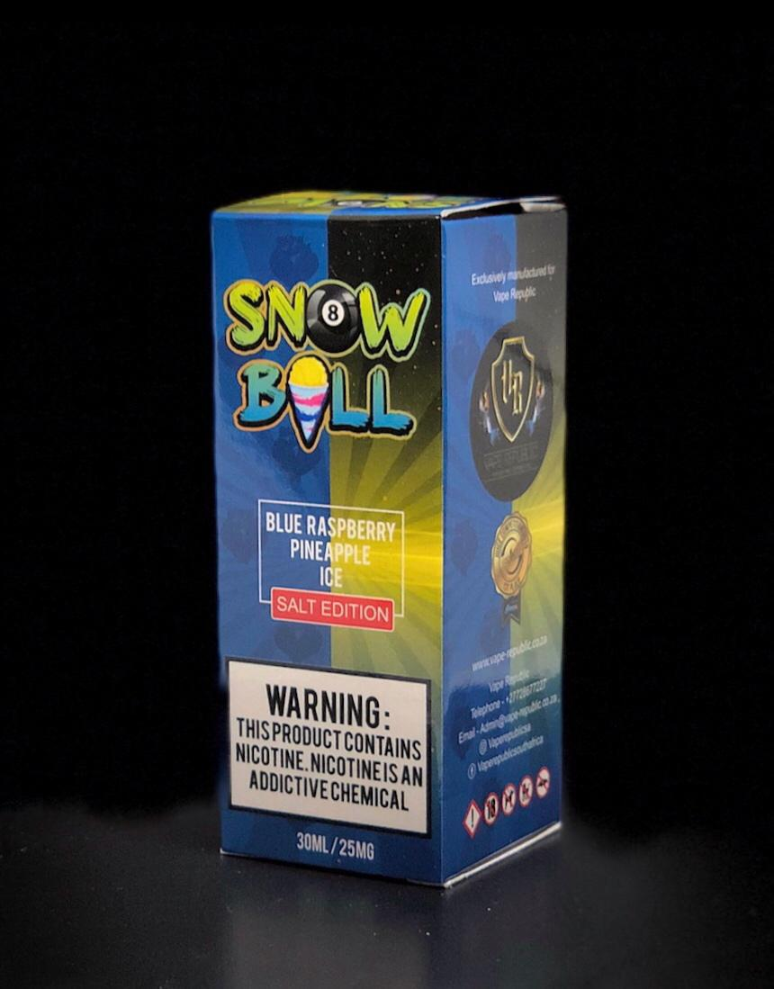 Snow Ball Salt Nic E-Liquid - Blue Raspberry Pineapple Ice