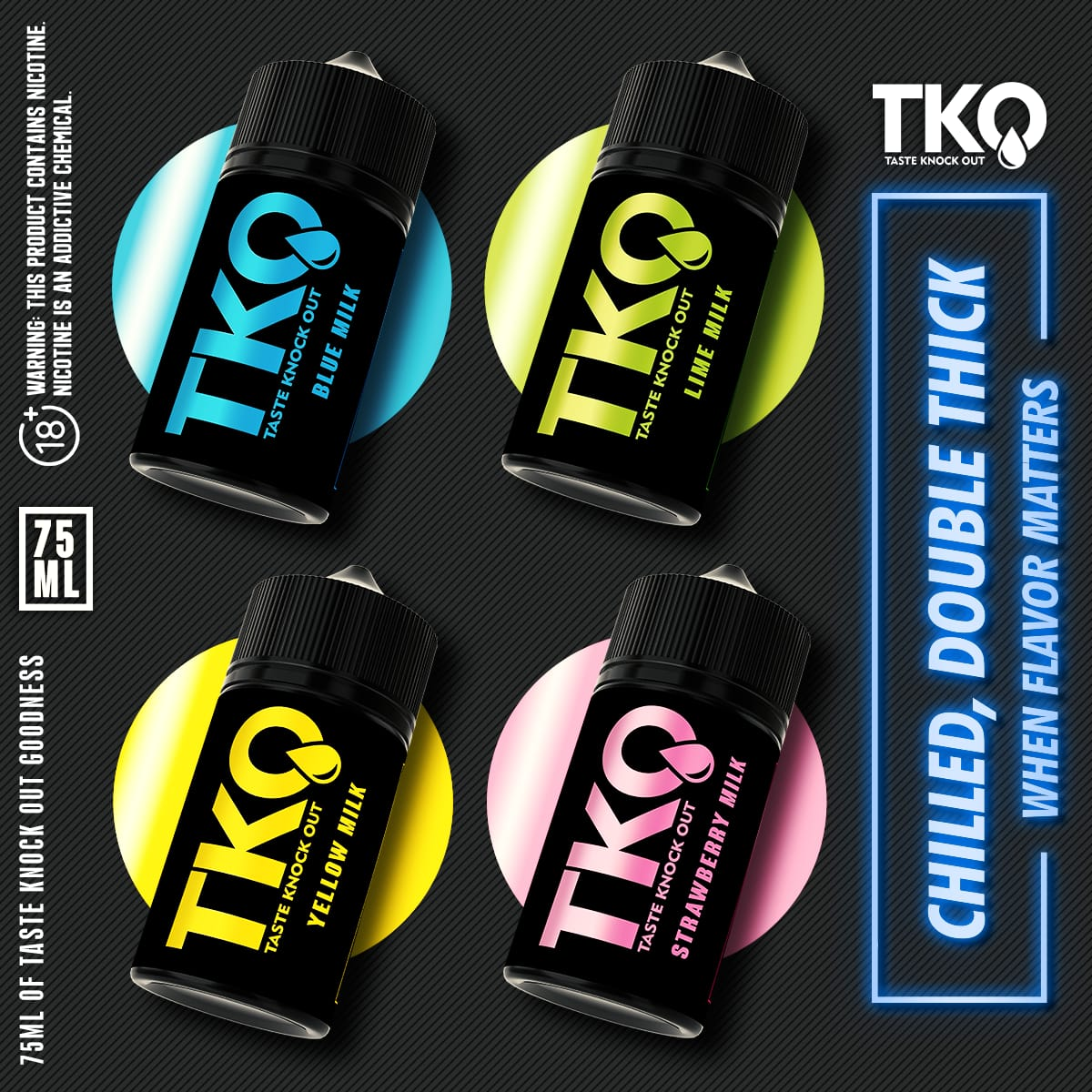TKO E-Liquid - Strawberry Milk  75ml