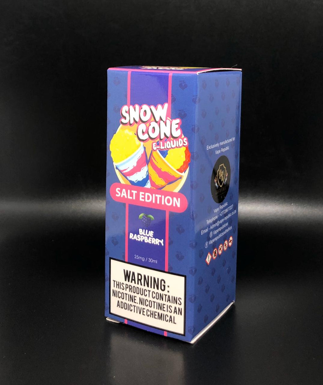 Snow Cone Salt Nic E-Liquid - Blue Raspberry