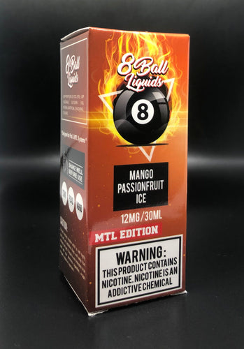 8 Ball MTL E-Liquid - Mango Passionfruit Ice