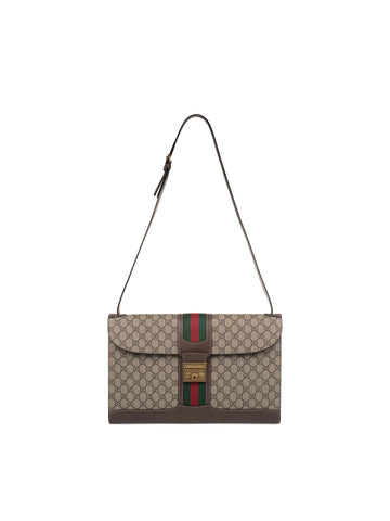 Beige/brown Gg Supreme Cross Boby Bag Brown
