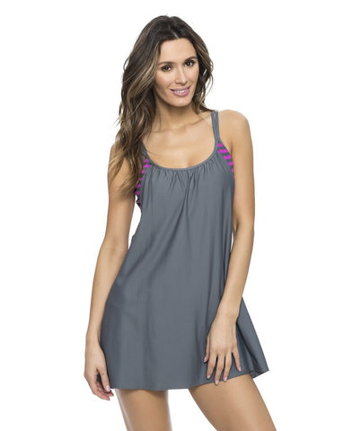Barre To Beach Double Cover Dress Color: BER