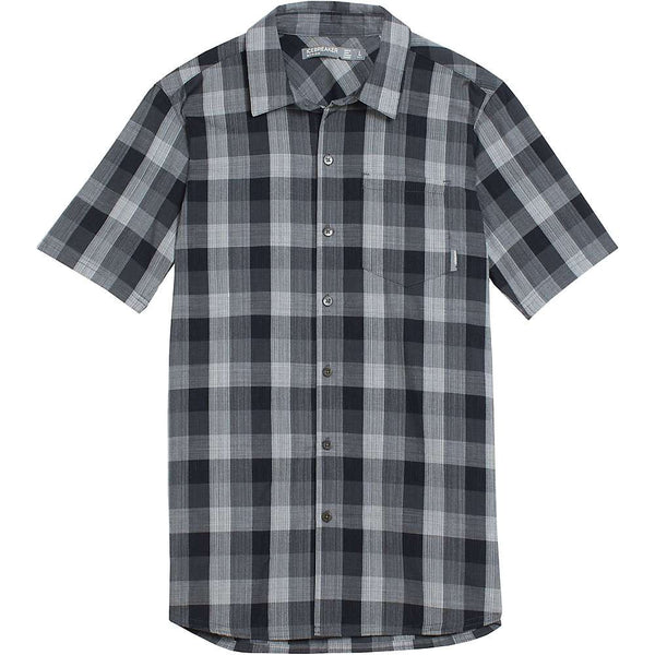 Icebreaker Men's Departure II SS Shirt Plaid