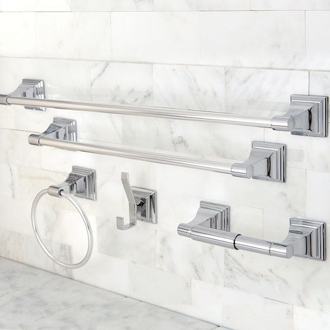 Classic 5-pc. Chrome (Grey) Towel Bar Set