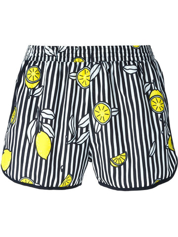 Ami Alexandre Mattiussi lemon striped swim shorts