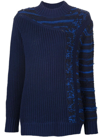 3.1 Phillip Lim contrast knit chunky sweater