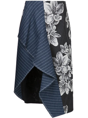 3.1 Phillip Lim floral asymmetric skirt