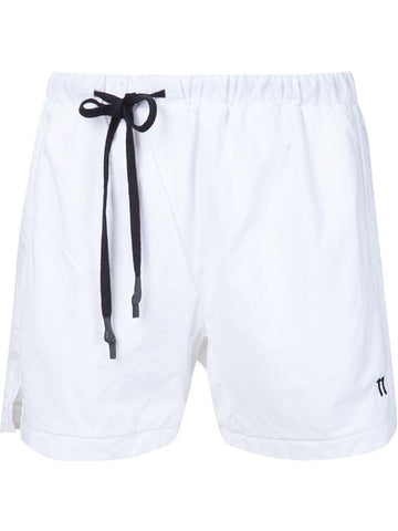 11 By Boris Bidjan Saberi drawstring logo swim shorts