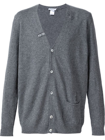 Avant Toi distressed button down cardigan