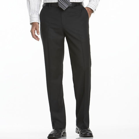 Big & Tall Apt. 9® Flat-Front Dress Pants Men's Black