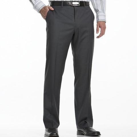 Big & Tall Apt. 9® Flat-Front Dress Pants Men's Gray