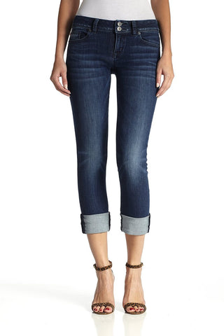 Hudson Jeans - Ginny Crop Straight with Cuff in Battalion