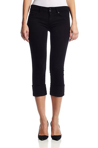 Black Ginny Crop Straight W/Cuff by Hudson Jeans, 29