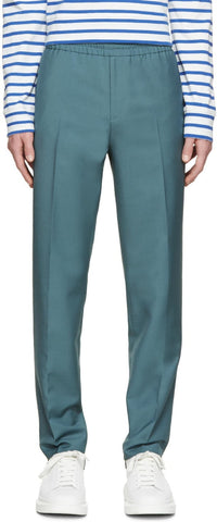 Acne Studios Green Wool Ryder Trousers