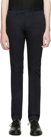 Acne Studios Navy Max Satin Trousers