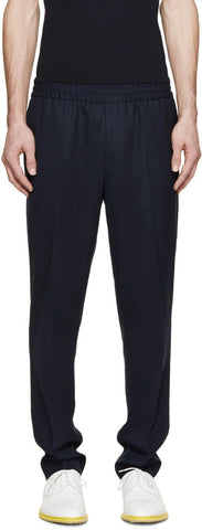 Acne Studios Navy Wool Ryder Travel Trousers