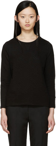 A.p.c. Black Perforated Martina Pullover
