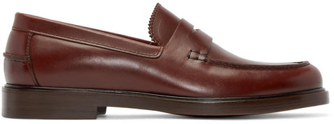 A.p.c. Brown Leather Augustin Loafers