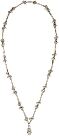 Alexander Mcqueen Silver Skull and Bone Link Necklace