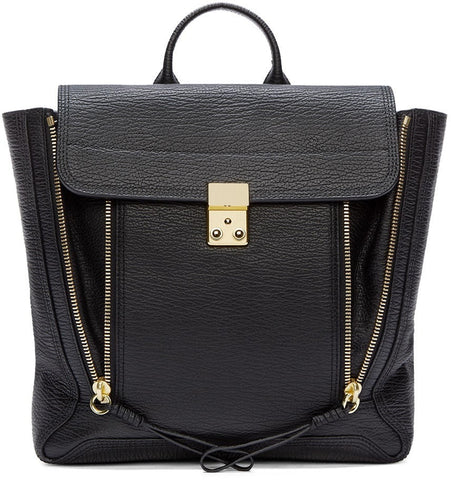 3.1 Phillip Lim Black Leather Pashli Backpack