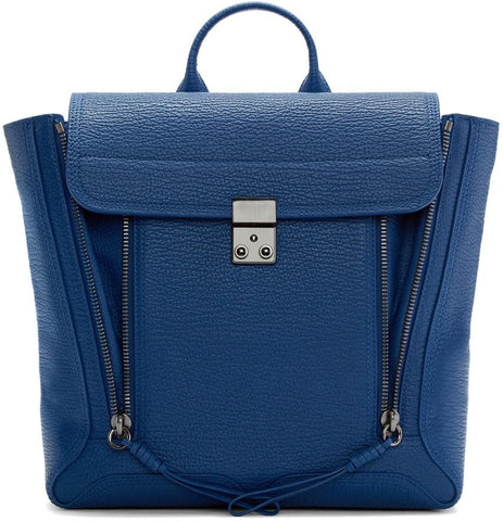 3.1 Phillip Lim Blue Grainy Pashli Backpack