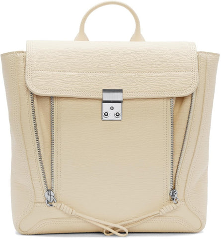3.1 Phillip Lim Cream Leather Pashli Backpack