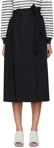 3.1 Phillip Lim Navy Paperbag Waist Skirt