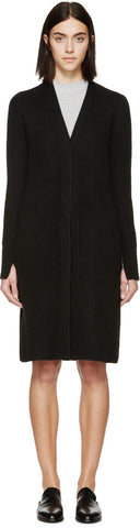 3.1 Phillip Lim Black Ribbed Raglan Cardigan