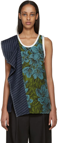 3.1 Phillip Lim Green and Blue Floral Tank Top