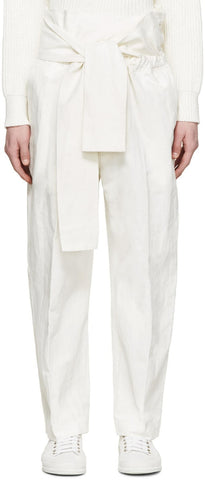 3.1 Phillip Lim White Linen Tie Trousers