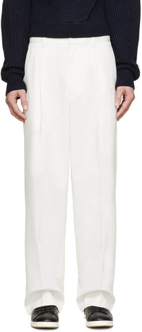 3.1 Phillip Lim Ivory Pleated Wide-leg Trousers