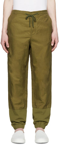3.1 Phillip Lim Green Nylon and Linen Trousers