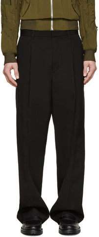 3.1 Phillip Lim Black Pleated Wide-leg Trousers