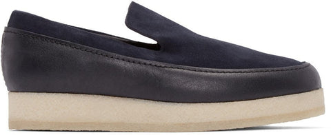 3.1 Phillip Lim Navy Leather and Suede Merika Loafers