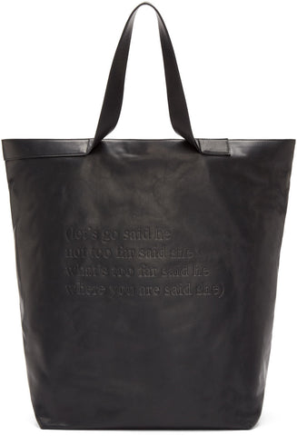 Ann Demeulemeester Black Leather Alana Tote