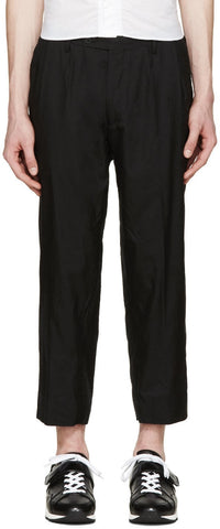08sircus Black Tropical Wool Trousers