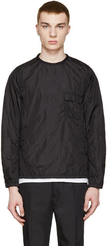 08sircus Black Quilted Nylon Pullover