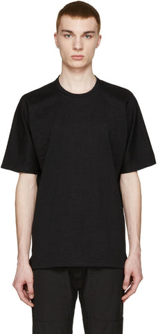 08sircus Black Loopwheel Terry T-shirt