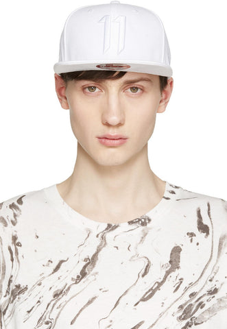 11 By Boris Bidjan Saberi White New Era Edition Logo Cap