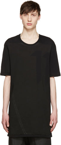 11 By Boris Bidjan Saberi Black Bias Logo T-shirt