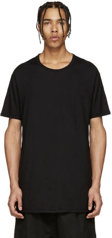 11 By Boris Bidjan Saberi Black Double Bird T-shirt