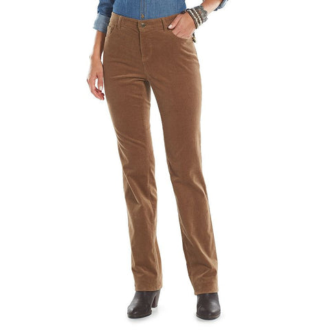 Chaps Corduroy Straight-Leg Pants - Women's Other Clrs