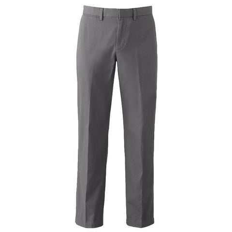 Big & Tall Apt. 9® Modern-Fit Performance Stretch Chino Flat-Front Pants Men's Castlerock